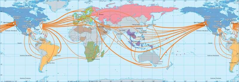 Wirtschaftsbündnisse und Kommunikation |  | Erde - Wirtschaft | Karte 34/1