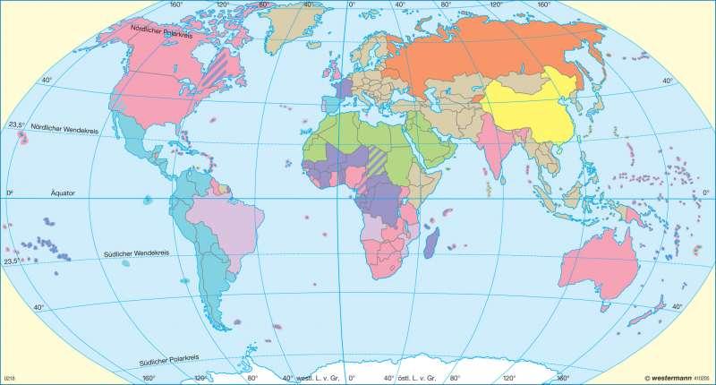 Amtssprachen (Arbeitssprachen der UN) |  | Erde - Tourismus | Karte 36/2