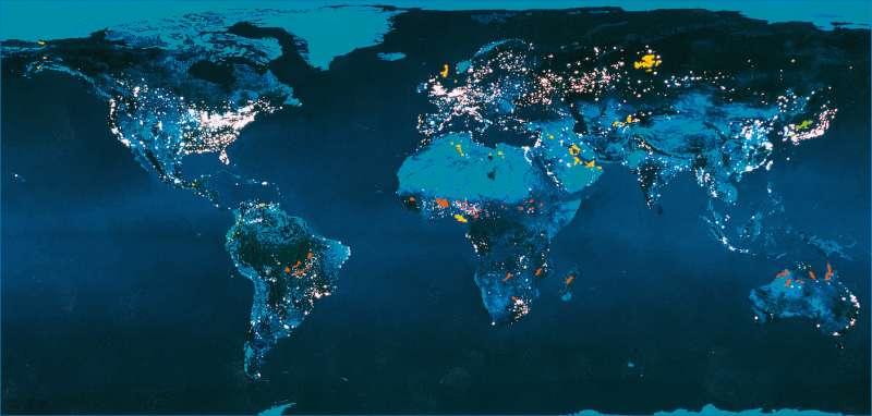 Erde bei Nacht |  | Erde - Umwelt | Karte 38/1