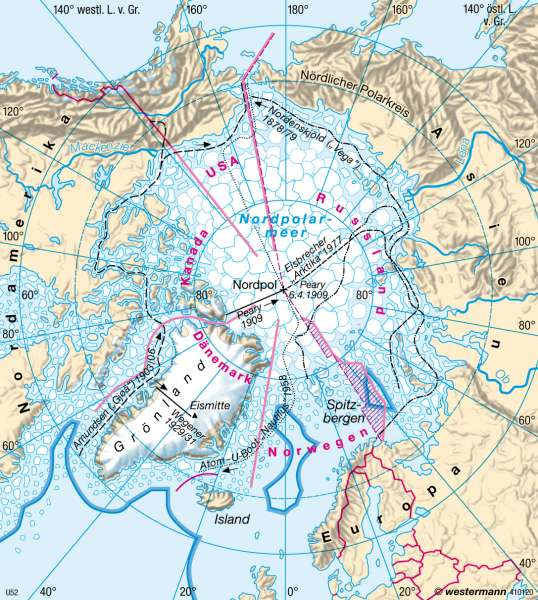 Entdeckung / Hoheitsansprüche |  | Erde - Polargebiete | Karte 42/2