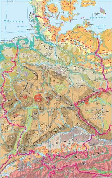 Deutschland | Naturraum | Deutschland - Naturraum | Karte 54/1