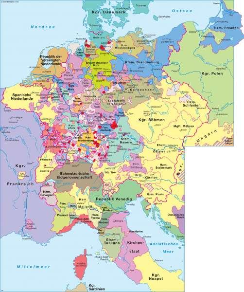 deutschland 1600 karte Diercke Weltatlas   Kartenansicht   Heiliges Römisches Reich