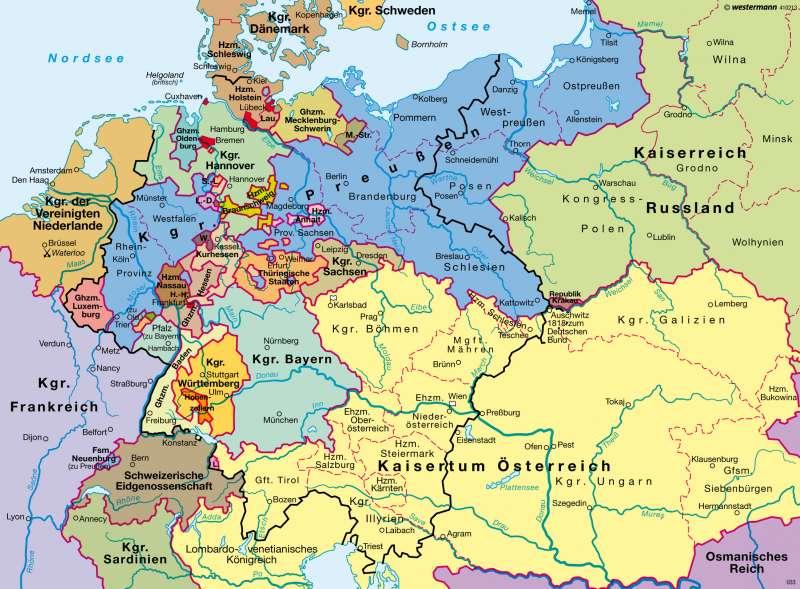 Diercke Weltatlas Kartenansicht Deutscher Bund 1815 978 3