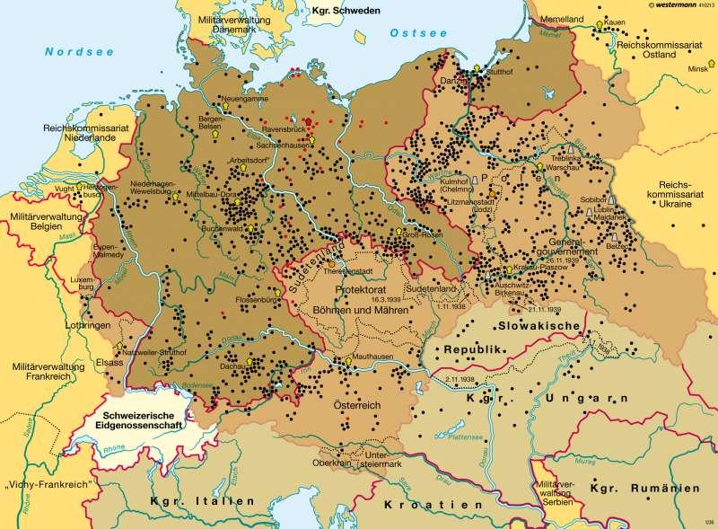 deutschland 1942 karte Diercke Weltatlas   Kartenansicht   Nationalsozialistisches