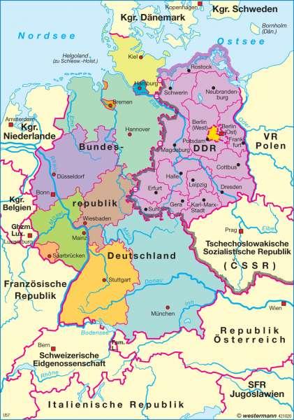 Diercke Weltatlas Kartenansicht Teilung Deutschlands 1949