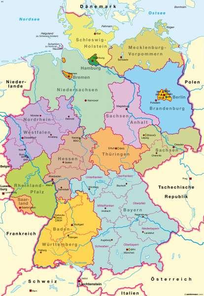 politische deutschland karte Diercke Weltatlas   Kartenansicht   Deutschland   Politische