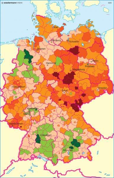 Natürliche Bevölkerungsentwicklung |  | Deutschland - Bevölkerung | Karte 69/2