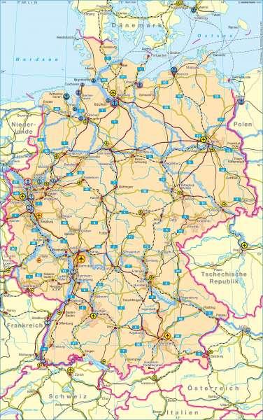 Deutschland | Verkehr | Deutschland - Verkehr | Karte 78/1