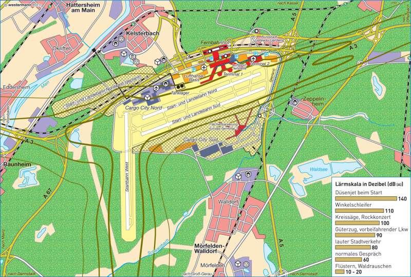 Diercke Weltatlas Kartenansicht Frankfurt Main Flughafen