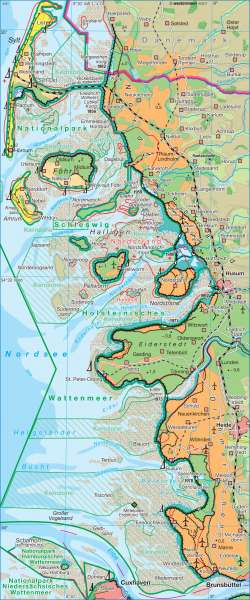 Wattenküste      Deutschland - Umwelt   Karte 82/1