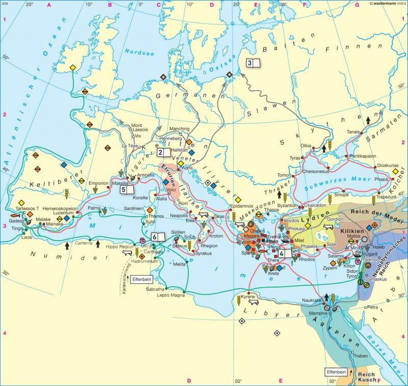 Phönikische und Griechische Kolonisation |  | Europa - Antike | Karte 86/1