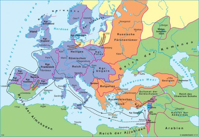 Jerusalem Karte Welt.Diercke Weltatlas Kartenansicht Europa Zur Zeit Der