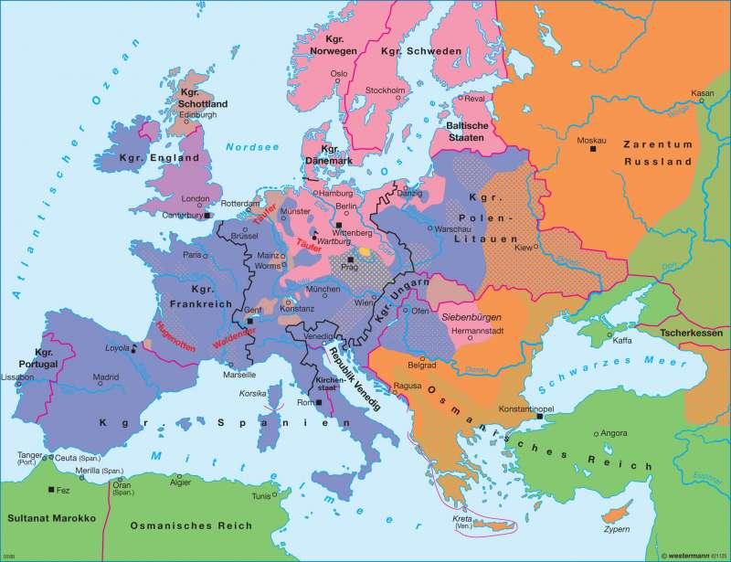 Diercke Weltatlas - Kartenansicht - Reformation in Europa um 1570 ...
