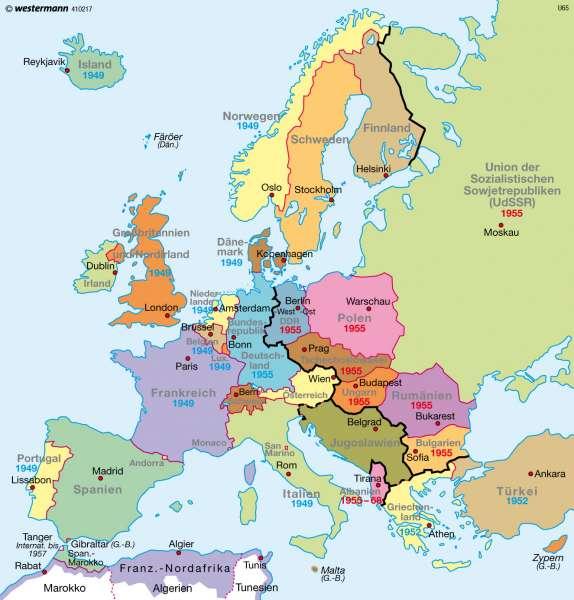 Diercke Weltatlas Kartenansicht Europa Nach Dem Zweiten