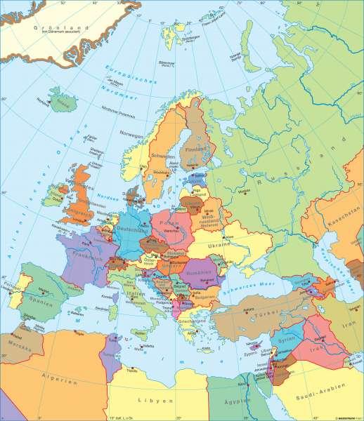 Karte Von Europa 1914.Diercke Weltatlas Kartenansicht Europa Politische