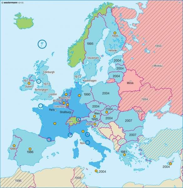 Europäische Zusammenschlüsse |  | Europäische Union | Karte 94/2