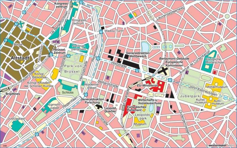 Brüssel | Hauptsitz der EU | Europäische Union | Karte 94/3