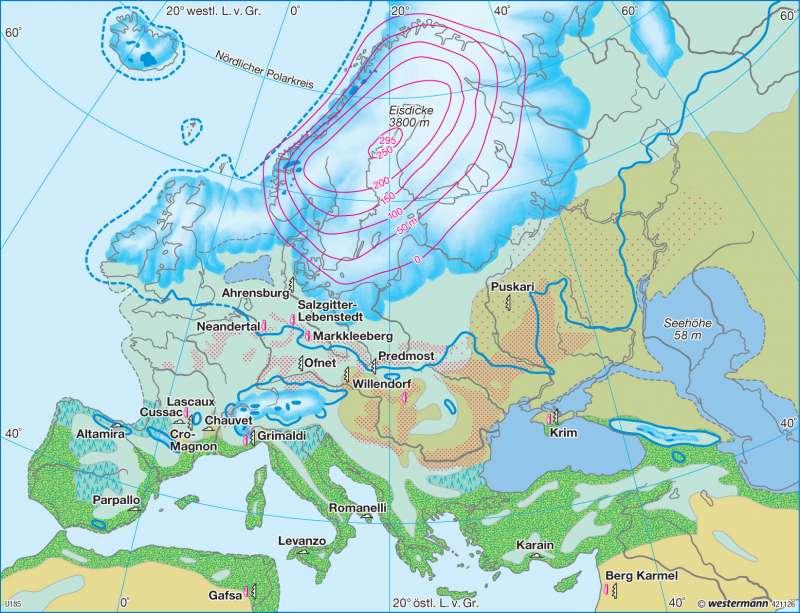 Letzte Kaltzeit |  | Europa - Landwirtschaft und Böden | Karte 101/2