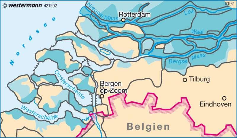 Überflutungsgefahr |  | Benelux - Länder | Karte 113/3