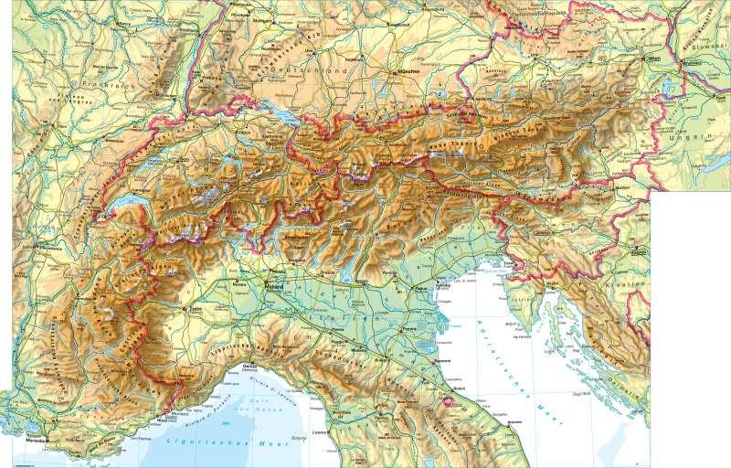 Alpen | physisch | Alpen - physisch | Karte 118/1