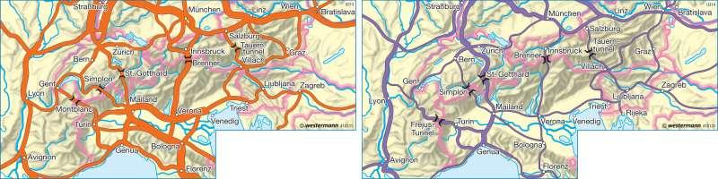 Alpentransit      Alpen - Tourismus   Karte 120/2