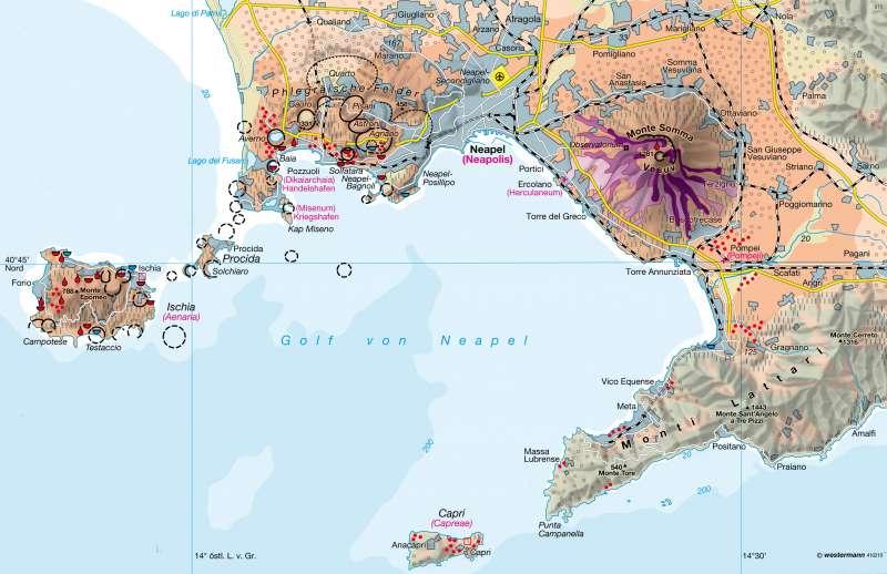 Golf von Neapel | Leben am Vulkan | Südeuropa | Karte 124/1