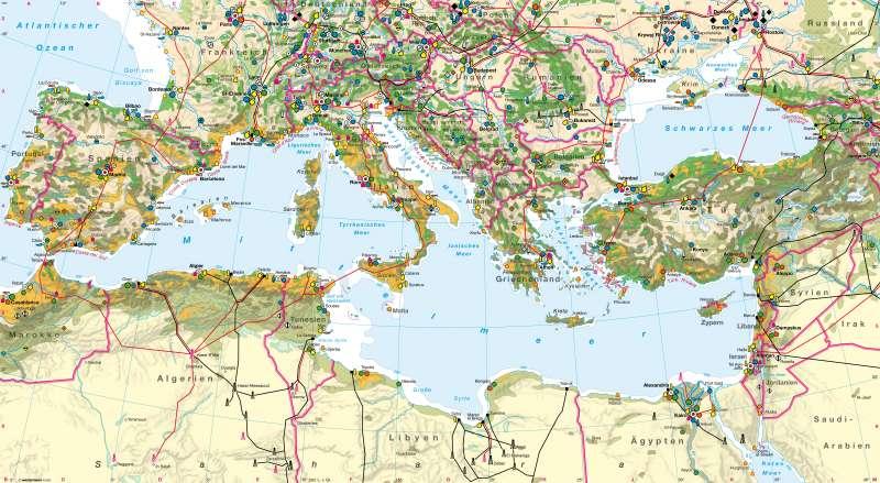 Diercke Weltatlas Kartenansicht Mittelmeerraum Wirtschaft