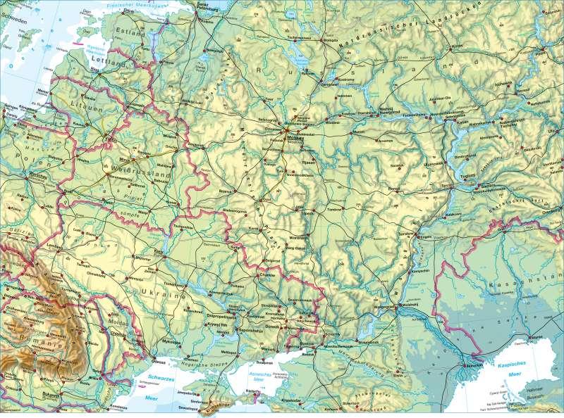 osteuropa karte Diercke Weltatlas   Kartenansicht   Osteuropa   physisch   978 3