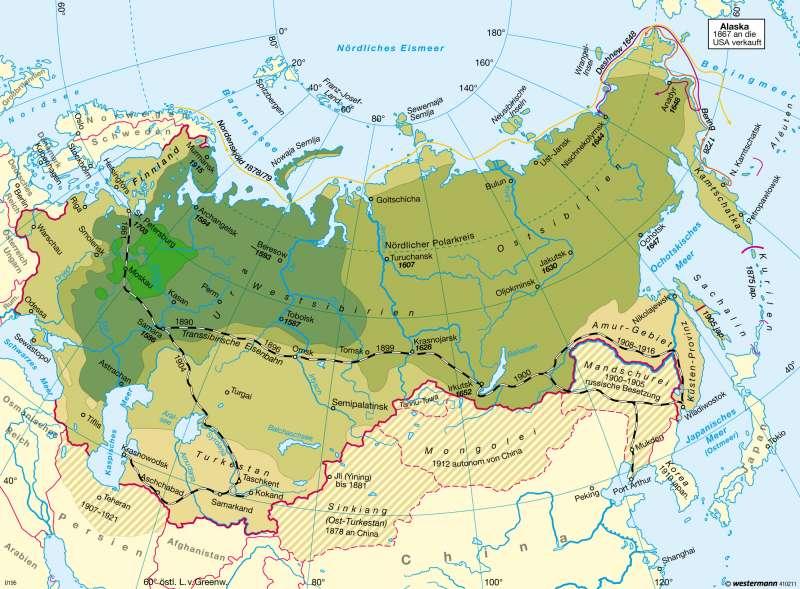 Russlands Aufstieg zur Großmacht 1462 — 1914 |  | Russland / Zentralasien | Karte 132/1