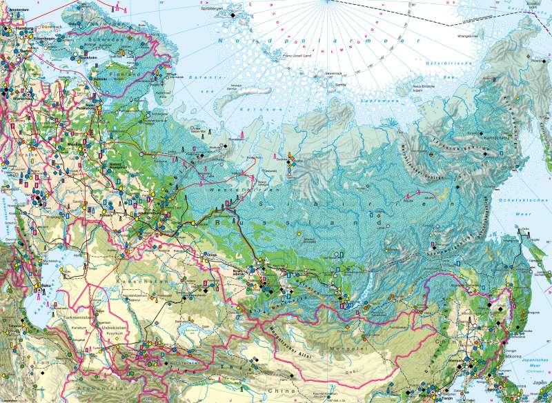 Karte Russland.Diercke Weltatlas Kartenansicht Russland Zentralasien