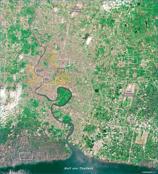 Bangkok Karte.Diercke Weltatlas Kartenansicht Bangkok Stadtwachstum Und