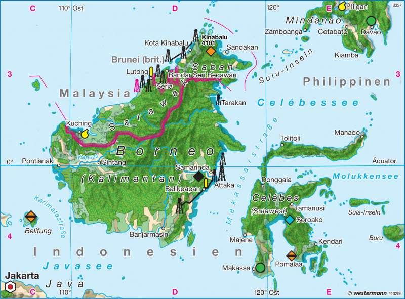 Borneo 1980 | Wirtschaft | Südostasien - Wirtschaft | Karte 149/2