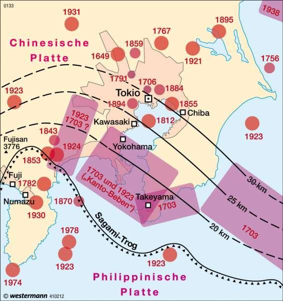 Erdbeben im Raum Tokio |  | Japan | Karte 150/2