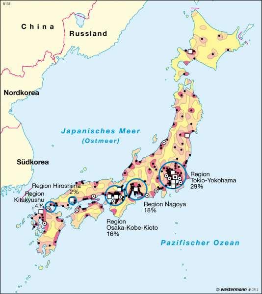 Bevölkerung |  | Japan | Karte 151/4