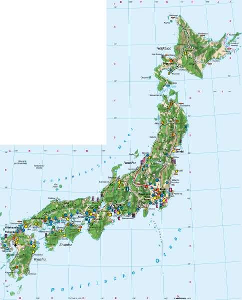 Wirtschaft      Japan   Karte 151/5