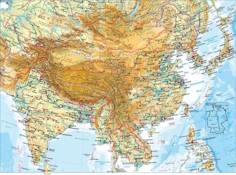Südasien | physisch | Südasien - physisch | Karte 152/1