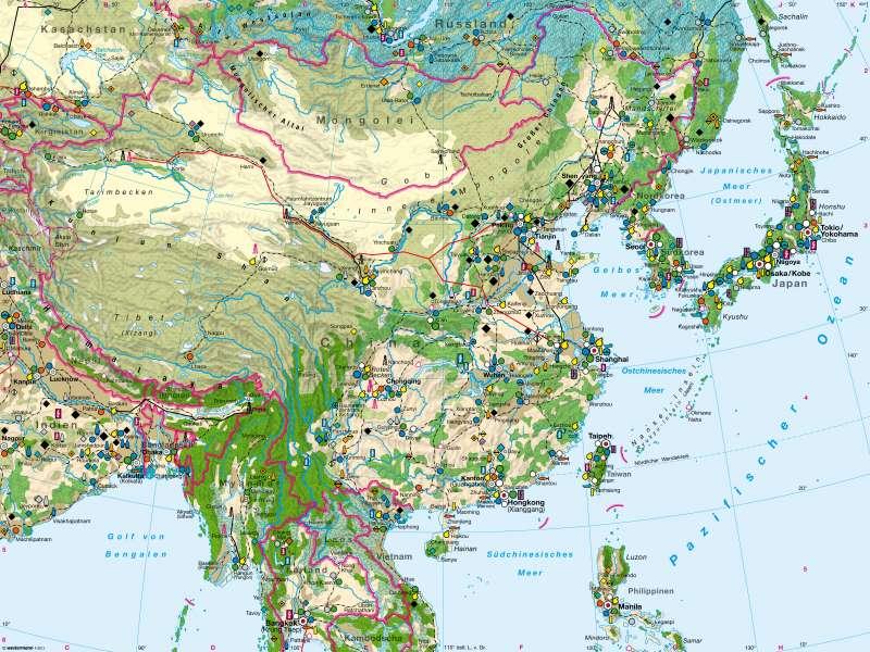Ostasien | Wirtschaft | Ostasien - Wirtschaft | Karte 154/3