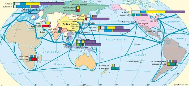 China | Außenhandel | China | Karte 157/4