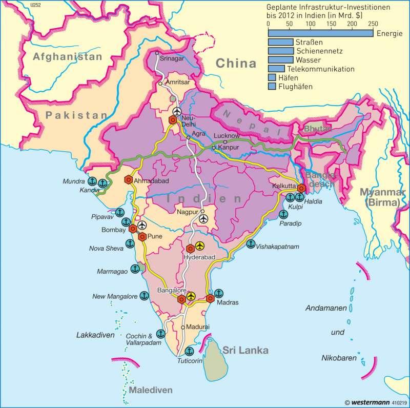 Raumentwicklung      Südasien - Wirtschaft und Bevölkerung   Karte 159/5