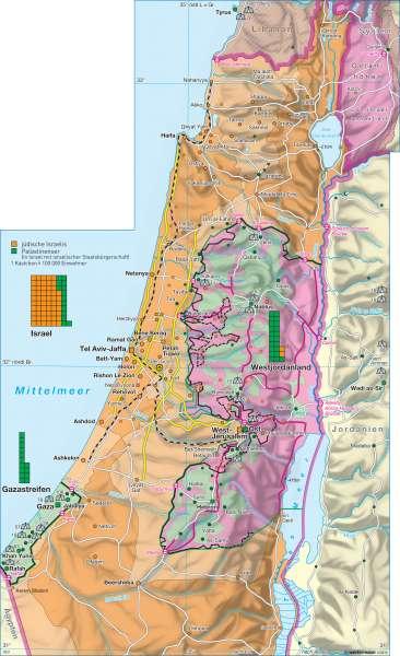 Siedlungsgebiete |  | Israel / Weltreligionen | Karte 162/3