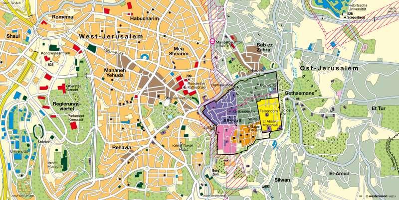 Jerusalem | heilige Stadt für drei Weltreligionen | Israel / Weltreligionen | Karte 163/5