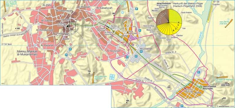Mekka (Makkah al-Mukarramah) | Pilgerstadt | Orient | Karte 164/2