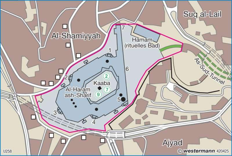 Haram | Moschee | Orient | Karte 164/3