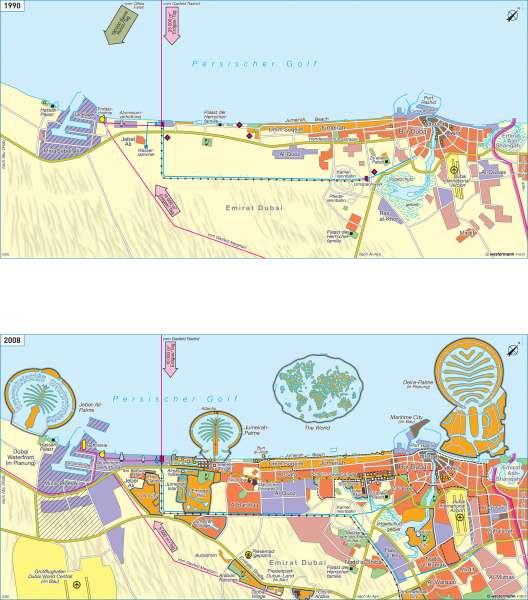 Dubai | Wandel zur Tourismusmetropole | Orient | Karte 165/4
