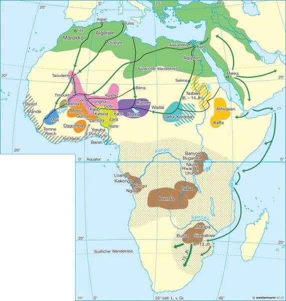 Afrika im 15.-17. Jahrhundert |  | Afrika - Staaten und Geschichte | Karte 170/1