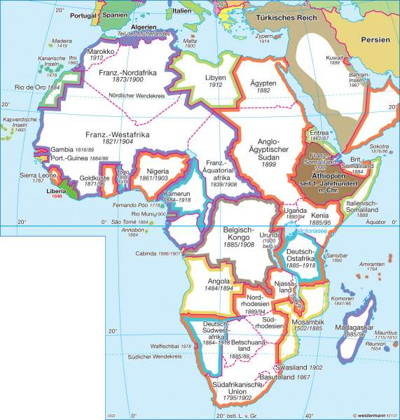 Diercke Weltatlas Kartenansicht Afrika 1914 1918 978 3 14