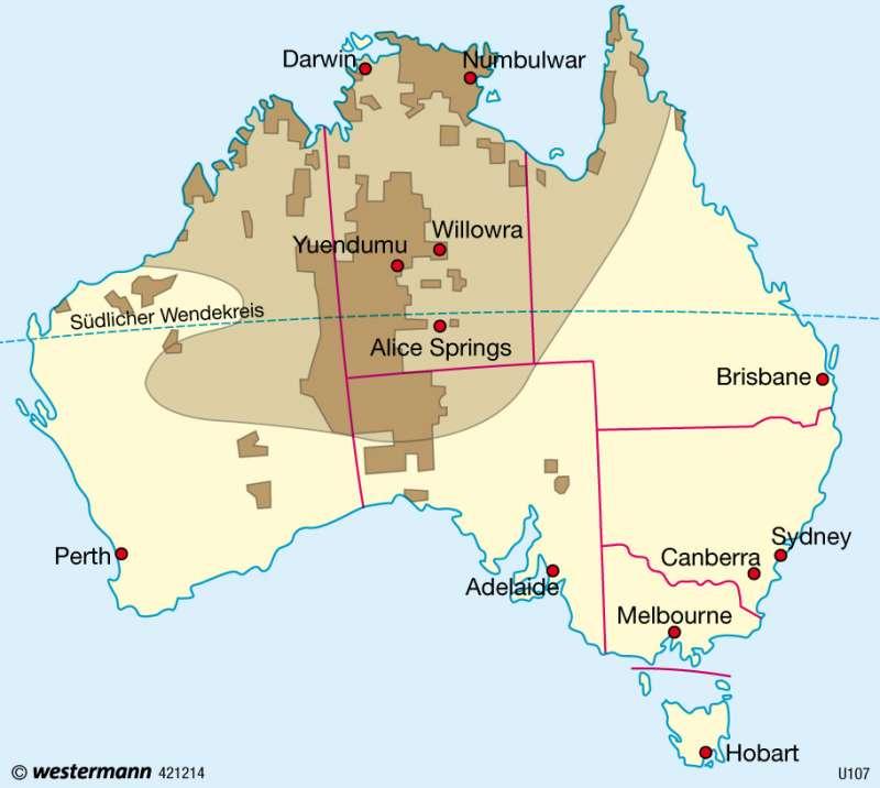 Ureinwohner (Aborigines) |  | Australien und Neuseeland - Wirtschaft | Karte 187/5