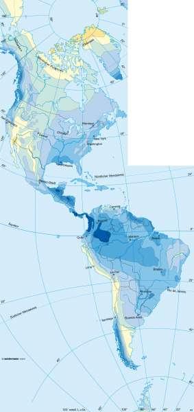 Niederschläge | Amerika | Amerika - Klima | Karte 193/3