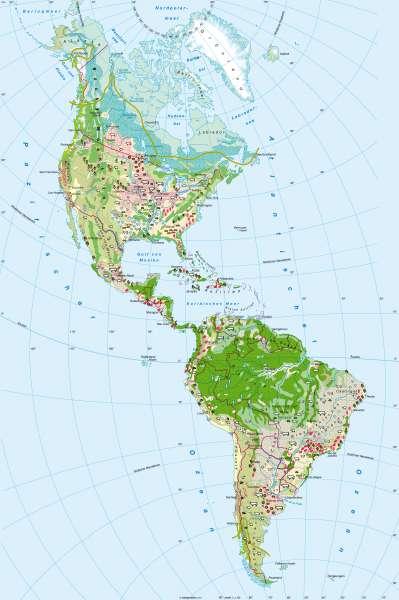 Diercke Weltatlas Kartenansicht Amerika Landwirtschaft 978