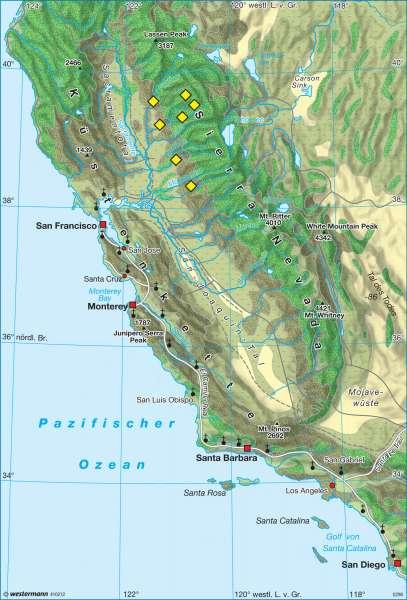 Kalifornien um 1830 |  | USA - Geschichte und Gegenwart | Karte 205/4